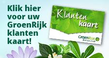 Klantenkaart tuincentrum GroenRijk